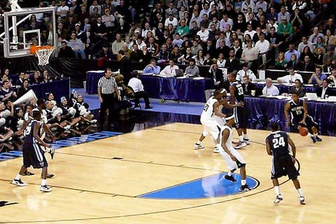 Villanova defeats Pittsburgh, 78-76, in the Elite 8 of the 2009 NCAA Tournament on Saturday, March 28, 2009.