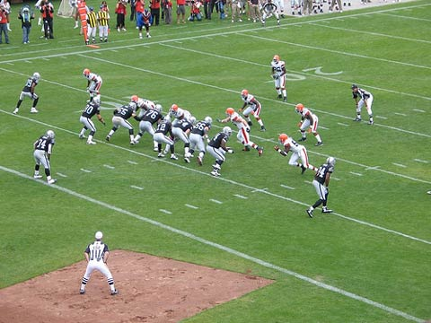 Oakland Raiders vs. Cleveland Browns.