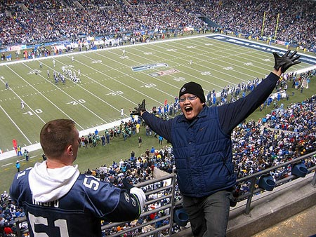 Fans cheered on as the host Seattle Seahawks beat the Dallas Cowboys.